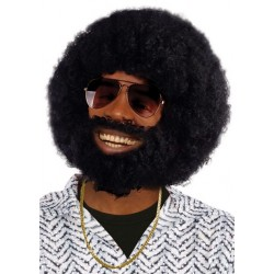 Afro Wig and Facial Hair