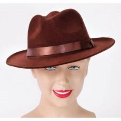 Brown Velvet Fedora Hat