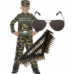 Camouflage Military Boy with optional extras.