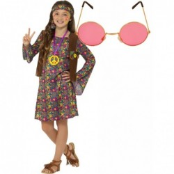 Hippie Girl Peace Dress with Optional Glasses