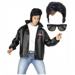 Mens Grease Jacket with Optional Wig and Glasses