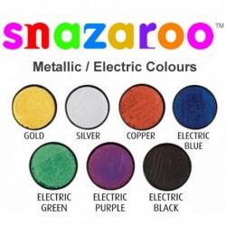 18ml Snazaroo Metallic & Electric Face Paint