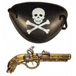Pirate Eye Patch and Gun
