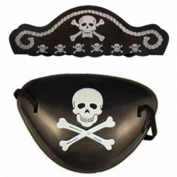 Pirate Eye Patch and Hat