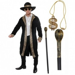 Black Pimp with Optional Cane & Medallion