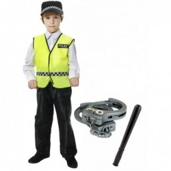 Police Boy with Optional Handcuffs and Trucheon