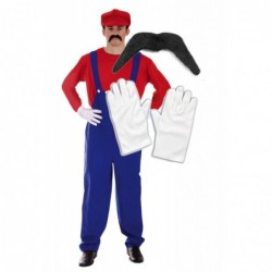 Mens Mario with Optional Moustache and Gloves