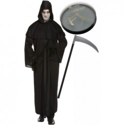 Death Robe with Optional Face Paint & Scythe