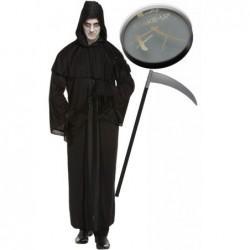 Death Robe with Optional Face Paint & Scythe