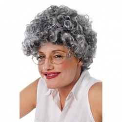 Old Lady Curly Wig
