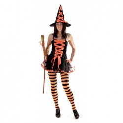 Orange Witch Costume