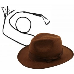 Indiana Jones Hat and Whip