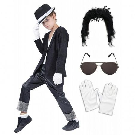 Boys Black Michael Jackson with Optional Wig