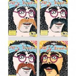 Stick on 70s Moustache Choose Colour