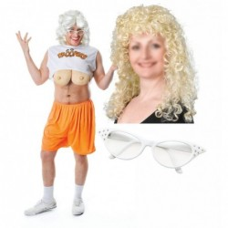Mens Hooters / Droopers with Optional Wig & Glasses
