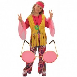 Girls 70s Hippy with Optional Glasses
