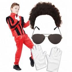 Boys Red Michael Jackson with Optional Wig