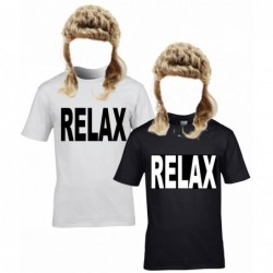 Relax T-Shirt with Mullet Wig