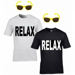 Relax T-Shirt with Neon Sunglasses