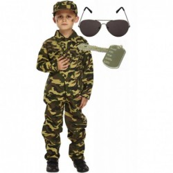Army Boy with Sunglasses & Dog Tag