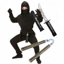 Black Ninja with Optional Sword & Nunchuk