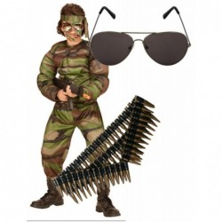 Boys Muscle Soldier with Optional Sunglasses & Bullet Belt