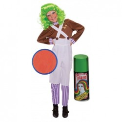 Kids Oompa Loompa with Optional Face Paint and Hair Spray