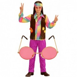 Boys 70s Funky Hippy with Optional Glasses