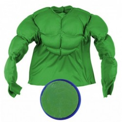 Boys Padded Hulk Shirt Add Optional Face Paint