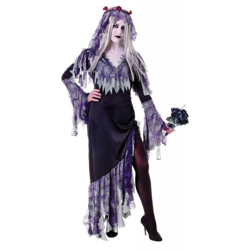 Dead Bride Halloween Costume.Zombie Bride Halloween Fancy Dress Costume