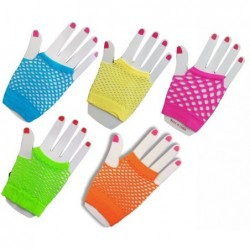 Neon Fingerless Gloves