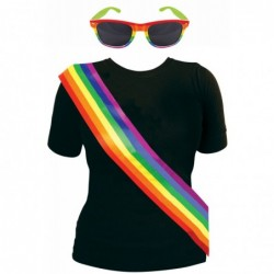 2 Piece Rainbow Kit: Sash & Sunglasses