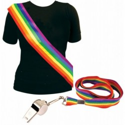 2 Piece Rainbow Kit: Sash & Whistle