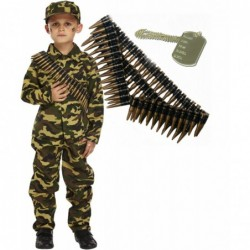 Army Boy with Optional Bullet Belt & Dog Tag