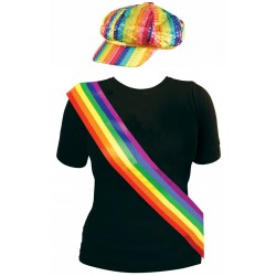 2 Piece Rainbow Kit: Cap & Sash