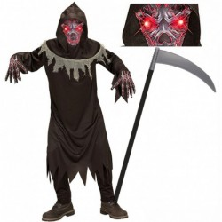 Boys Demon Red Light-Up Eyes and Optional Scythe
