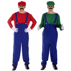 Mens Couples Mario and Luigi