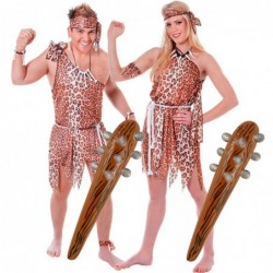 Couples Caveman and Cavewoman Costumes
