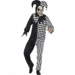 Mens Evil Jester (Black/White)