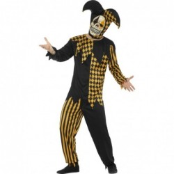 Mens Evil Jester (Black/Gold)