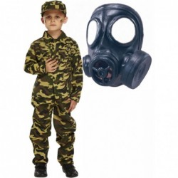 Army Boy with Gas Mask
