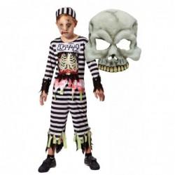Boys Skeleton Prisoner with Mask