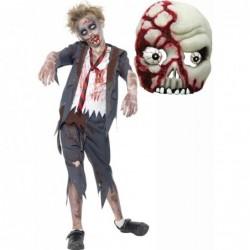 Boys Zombie School Boy and Zombie Mask