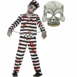 Boys Zombie Convict and Half Skull Mask
