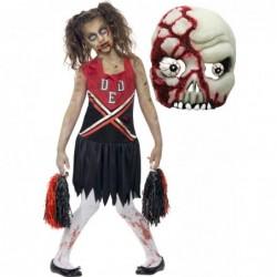 Girls Zombie Cheerleader and Zombie Mask