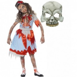 Girls Zombie Country Girl and Half Skull Mask