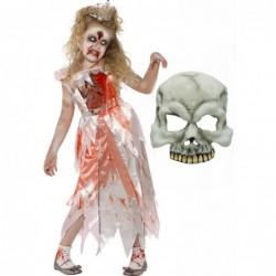 Girls Zombie Sleeping Princess and Half Skull Mask