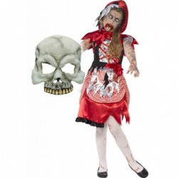 Girls Zombie Miss Hood and Half Skull Mask