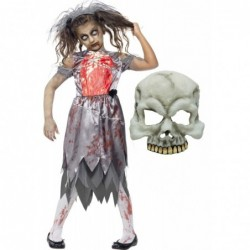 Girls Zombie Bride and Half Skull Mask