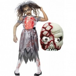 Girls Zombie Bride and Zombie Mask